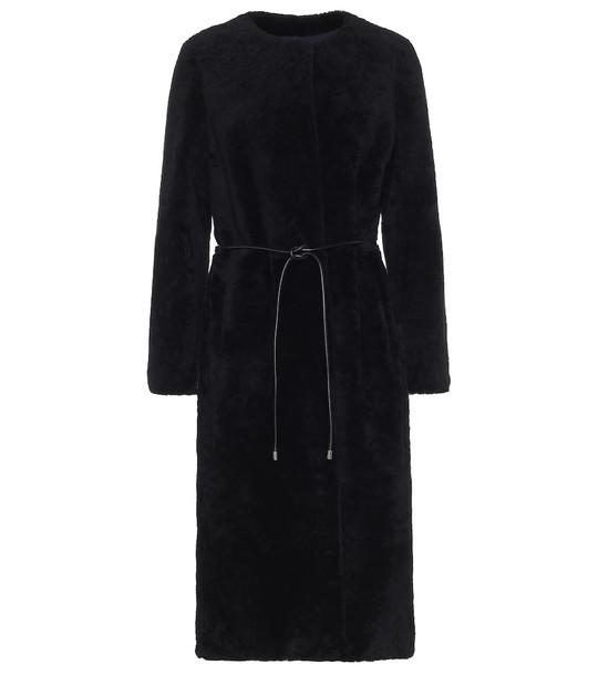 Yves Salomon Meteo shearling coat in black