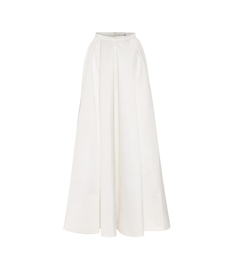 Temperley London Betsy satin bridal maxi skirt in white