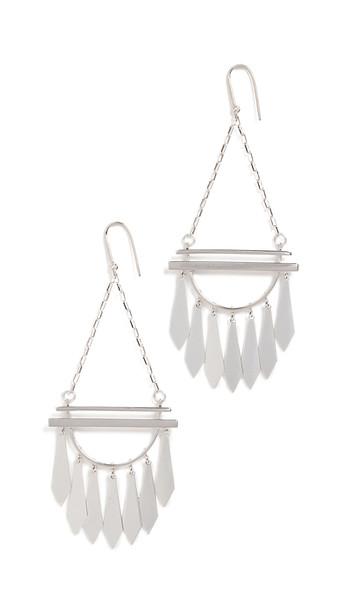 Isabel Marant Fringe Earrings in silver