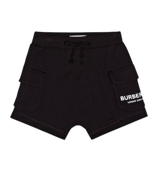 Burberry Kids Cotton jersey shorts in black