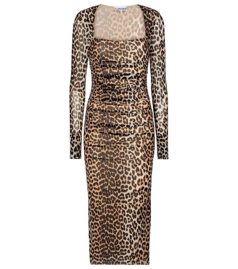 Ganni Leopard-print maxi dress