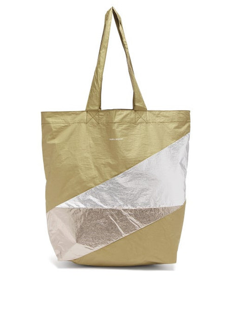 Isabel Marant - Woom Panelled Tote Bag - Womens - Khaki Multi