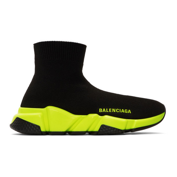 Balenciaga Black & Yellow Speed Sneakers