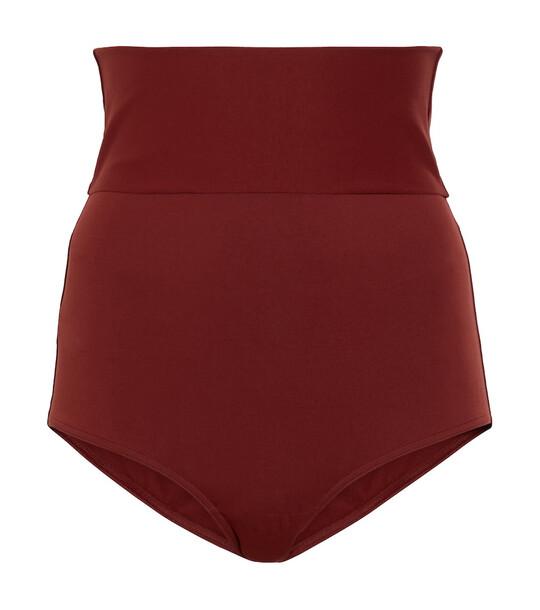 ERES Gredin high-rise bikini bottoms in brown