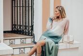 mi aventura con la moda,blogger,dress,sweater,spring outfits,ombre