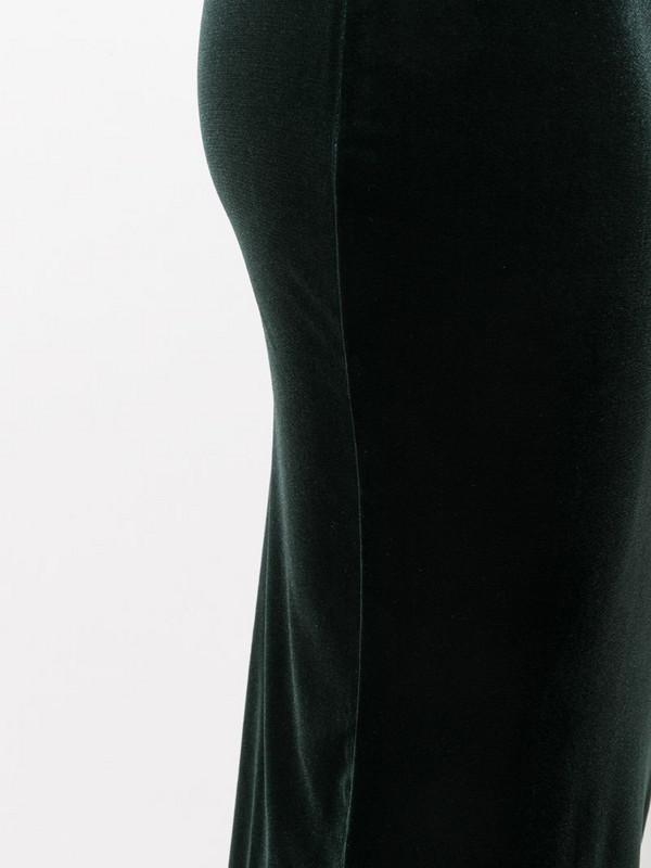 Antonella Rizza velvet pencil skirt in green