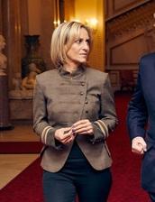 jacket,emily maitlis,military style,blazer,military blazer