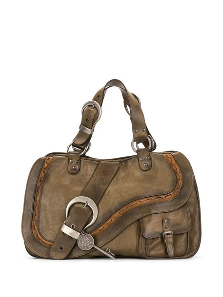 Christian Dior pre-owned Gaucho tote bag in brown