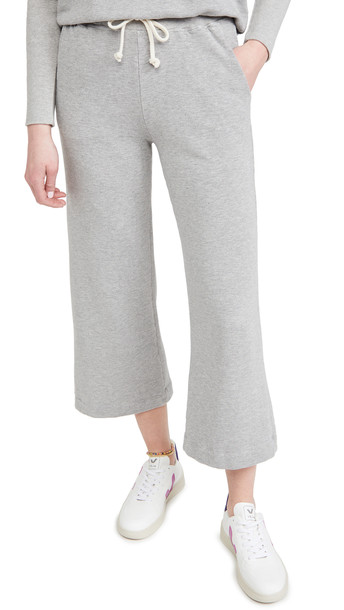 SUNDRY Cropped Flare Sweatpants in grey