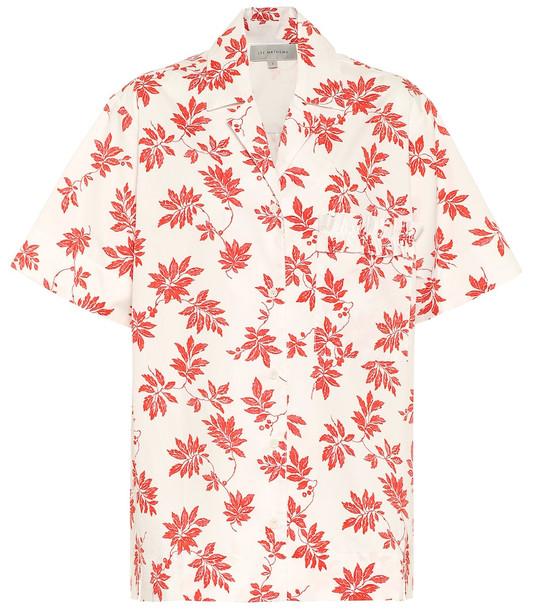Lee Mathews Printed cotton shirt in white