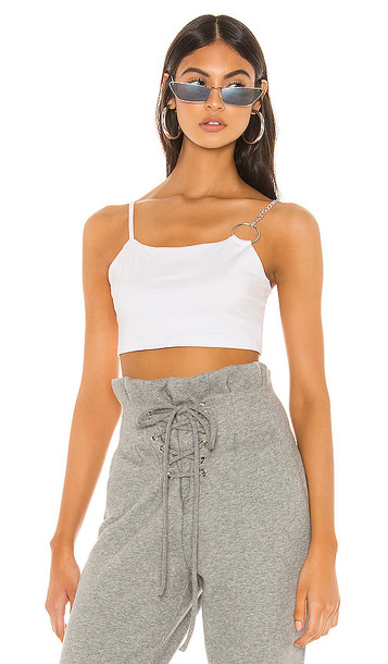 superdown Alia Crop Top in White
