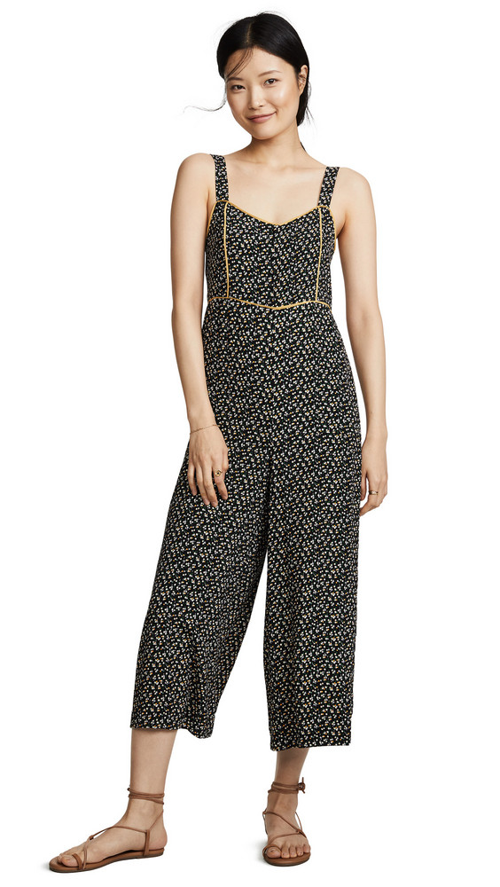 8a72cc0b0847 Madewell Button Front Wide Leg Jumpsuit in black
