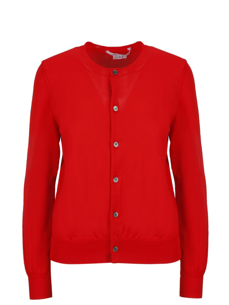 Comme Des Garçons Button-up Cardigan in red
