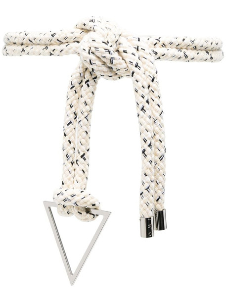 IRO oversized knot rope belt in white
