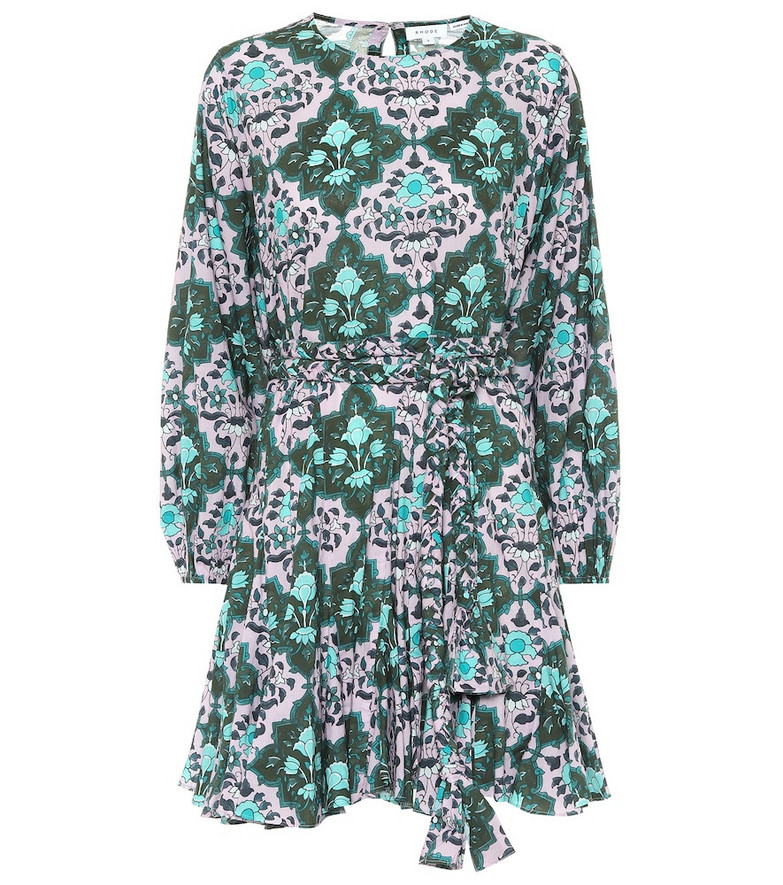 RHODE Exclusive to Mytheresa – Ella floral cotton minidress in green