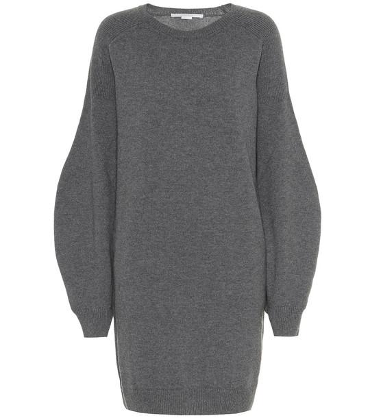 Stella McCartney Virgin wool sweater dress in grey