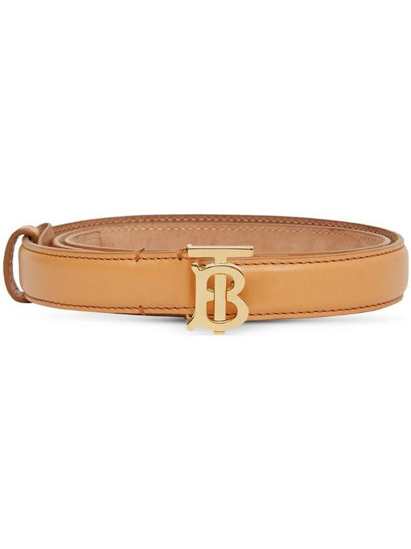 Burberry Monogram Motif buckle belt in brown