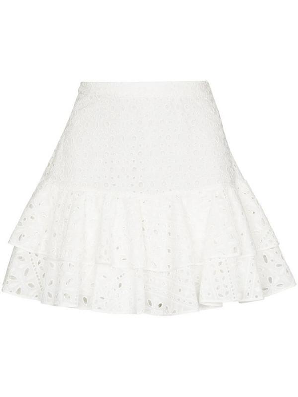 Charo Ruiz Ibiza Natalie broderie anglaise mini skirt in white