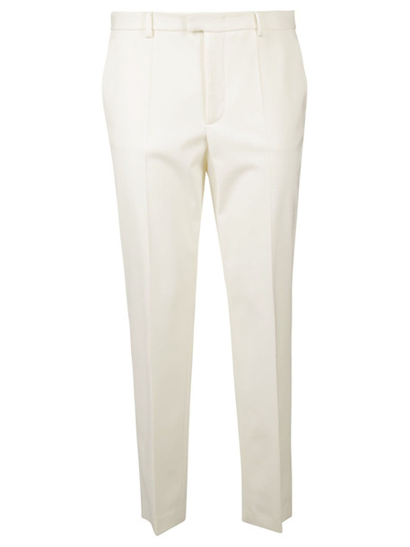 Red Valentino Tapered Tailored Trousers in white