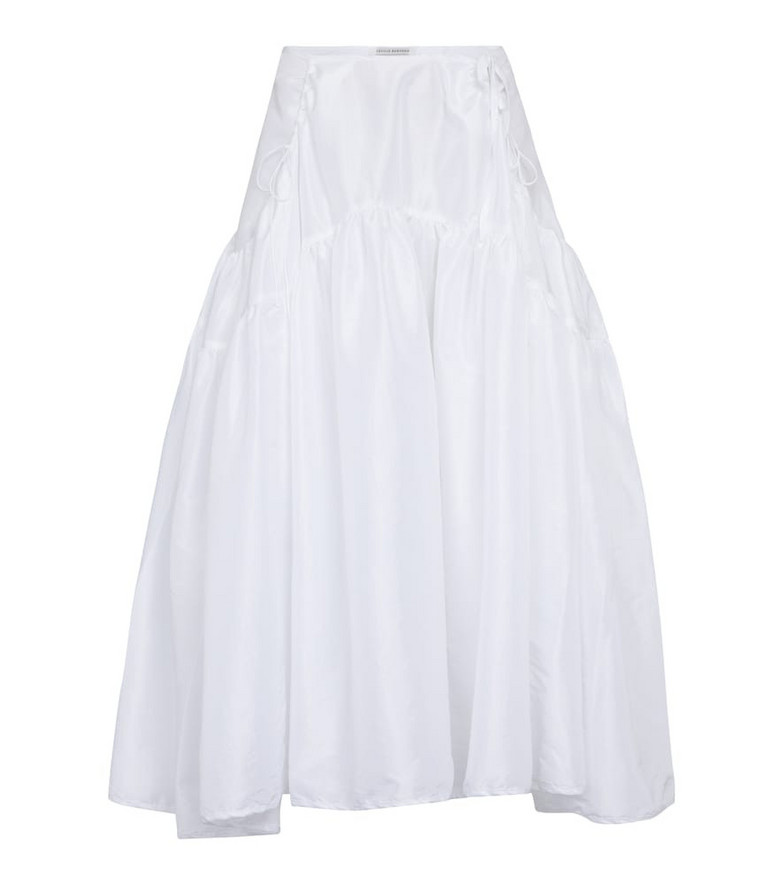 Cecilie Bahnsen Tiered faille midi skirt in white