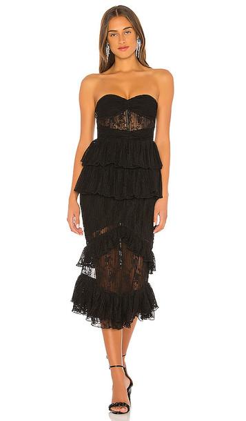 NBD Vienna Midi Dress in Black