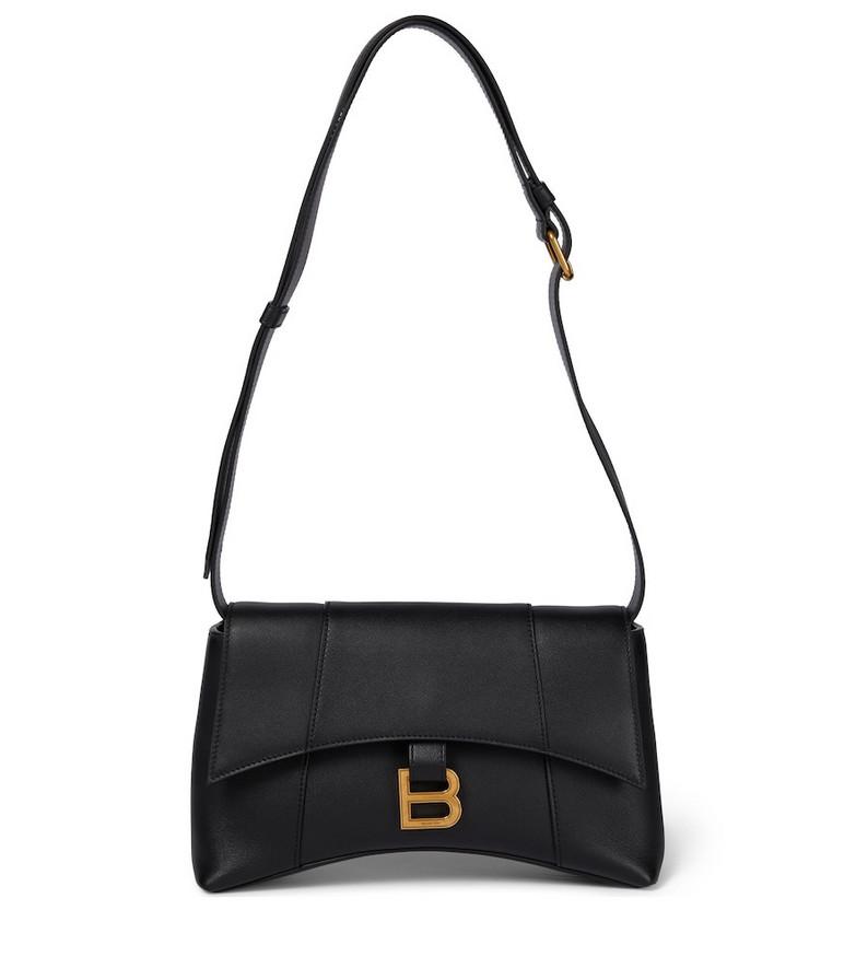 Balenciaga Hourglass Sling leather shoulder bag in black