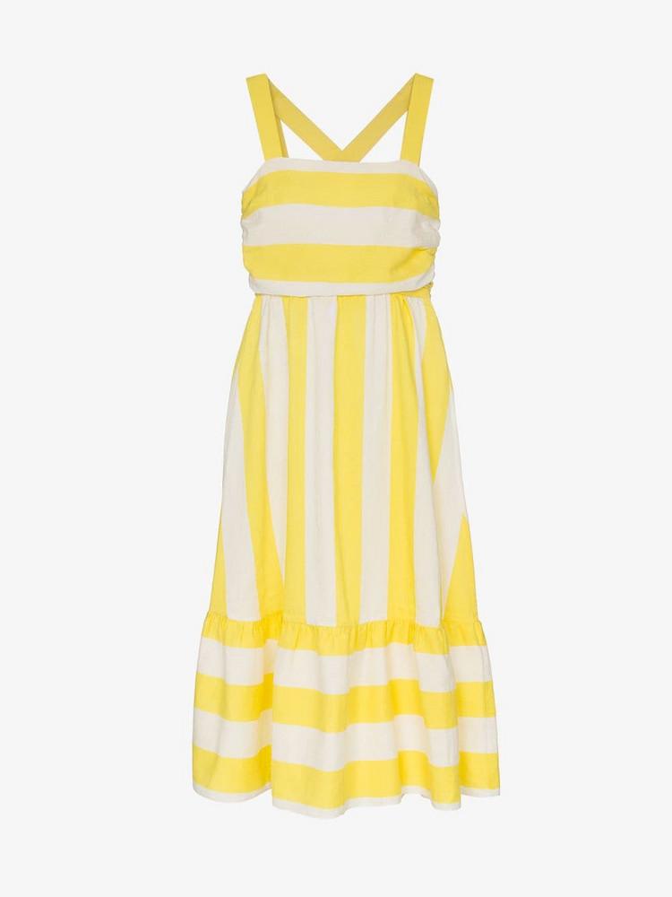 Paper London Bali square neck racerback dress in yellow