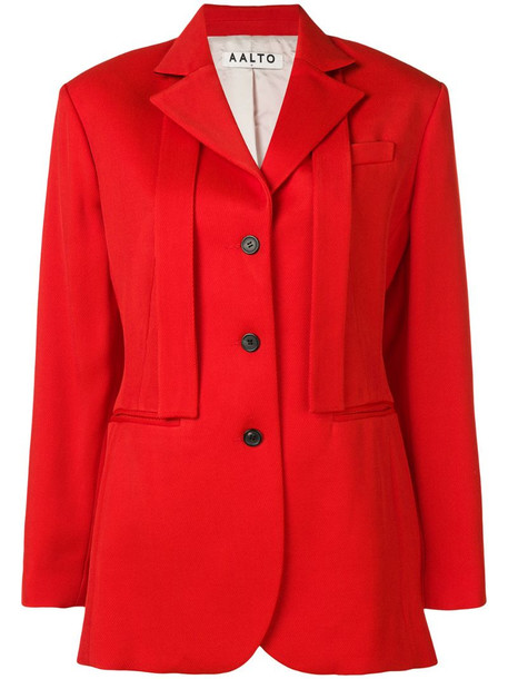 Aalto single breasted blazer in red