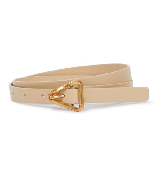 Bottega Veneta Leather belt in beige