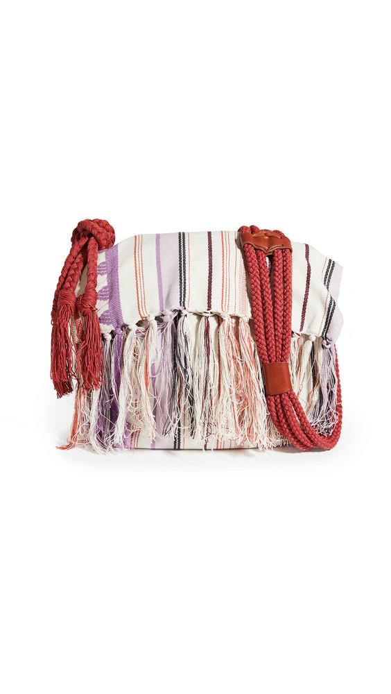 Isabel Marant Marakoo Shoulder Bag in ecru / pink