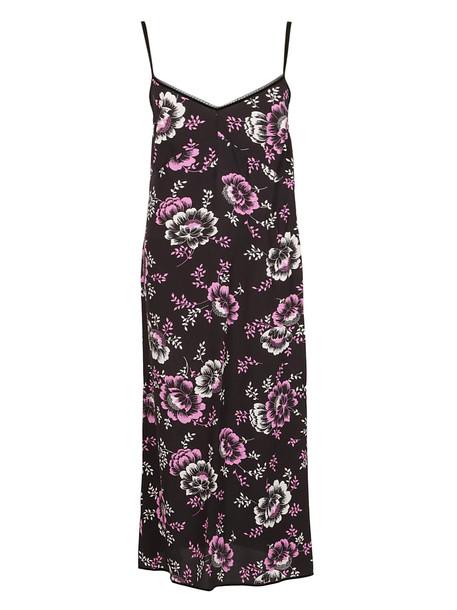 Mcq Alexander Mcqueen Floral Printed Short Dress in black