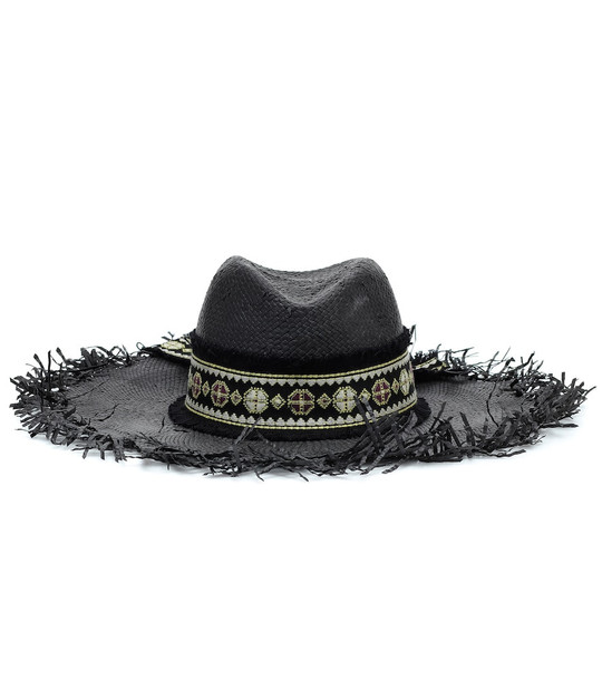 Etro Embellished straw hat in black