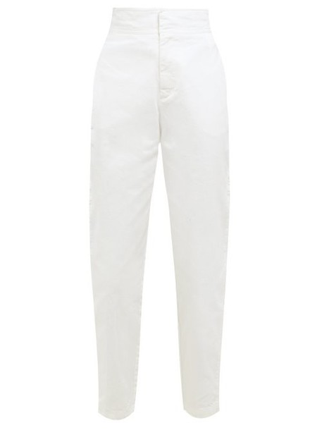 Masscob - Arnos Straight Leg Cotton Trousers - Womens - White