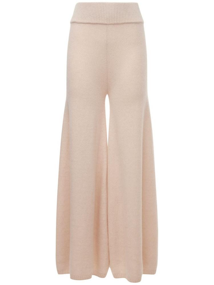 KHAITE Rachelle Cashmere Knit Pants in white