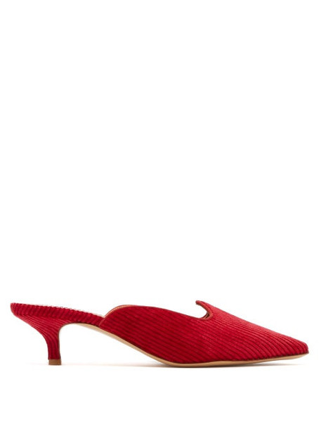 Giuliva Heritage Collection - Venetian Corduroy Mules - Womens - Red