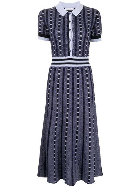 Gabriela Hearst Elvis knitted shirt dress in blue
