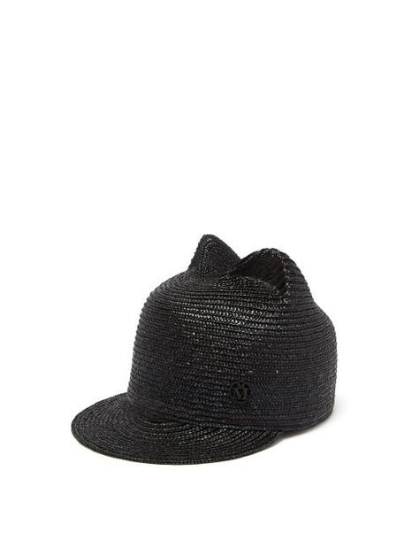 Maison Michel - Jamie Straw Hat - Womens - Black