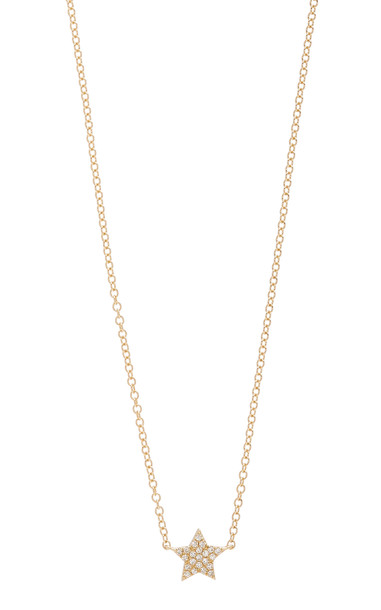 EF Collection Star 14k Yellow-Gold Diamond Choker Necklace