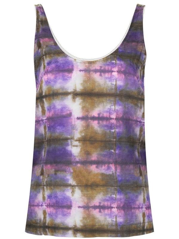 Raquel Allegra abstract print tank top in purple