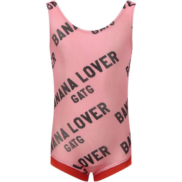Gardner and the Gang Pink banana Lover Girl Swimsuit