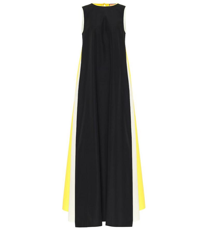Plan C Colorblocked poplin maxi dress