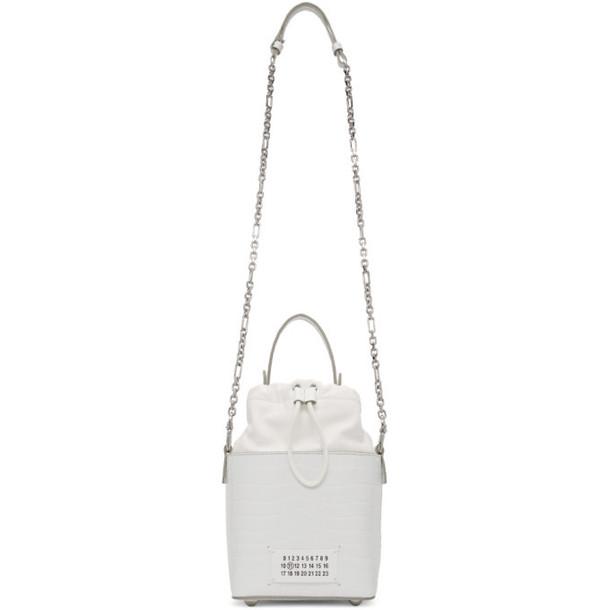 Maison Margiela White Croc 5AC Bucket Bag