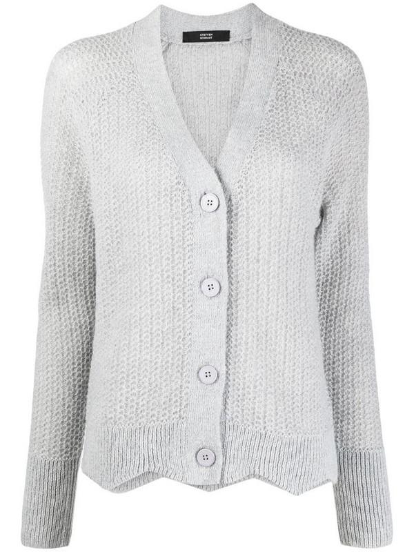 Steffen Schraut woven knit cardigan in grey