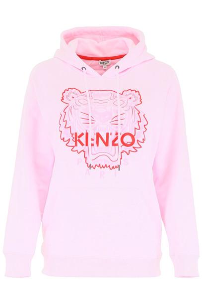 Kenzo Tiger Hoodie in pink