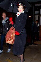 coat,gigi hadid,celebrity,model off-duty