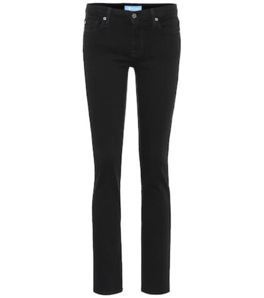 7 For All Mankind Pyper cropped mid-rise skinny jeans in black