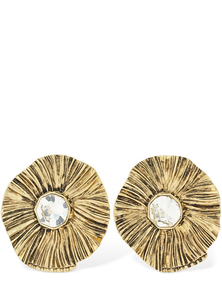 SAINT LAURENT Soleil Glisse Clip-on Earrings in gold