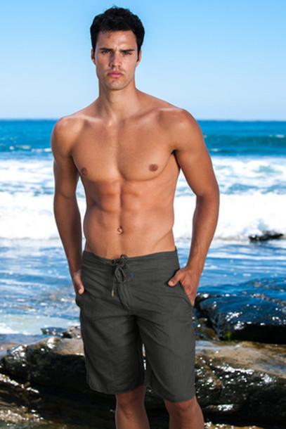 shorts black linen shorts black sauvage activewear mens bikiniluxe