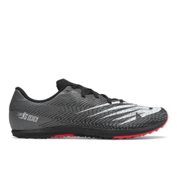 New Balance XC Seven Men's & Women's Racing Flats Shoes - Black/White (UXCR7BW2)