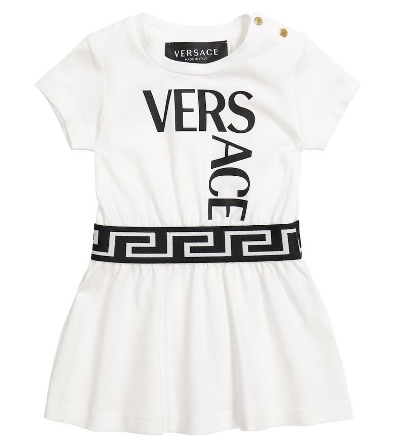 Versace Kids Baby stretch-cotton dress in white